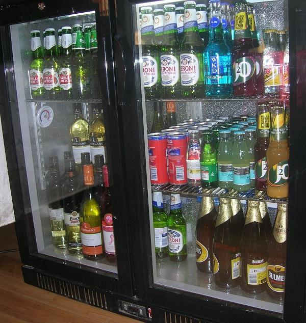 fridge from a mobile bar