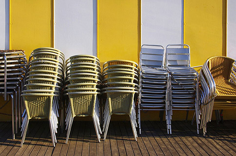Event Furniture Hire – stacked chairs
