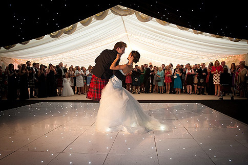 """First dance"" inside a marquee - image courtesy of Best Intent Marquees"