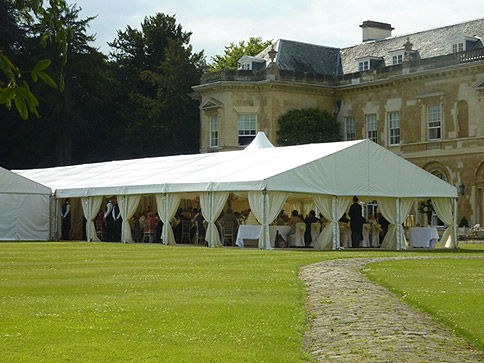 Marquee with open sides - image courtesy of Chelsea Hire