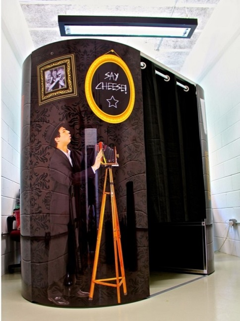 Photo Booth Hire; Photo booth and props – image courtesy of Lichfield Entertainment Ltd