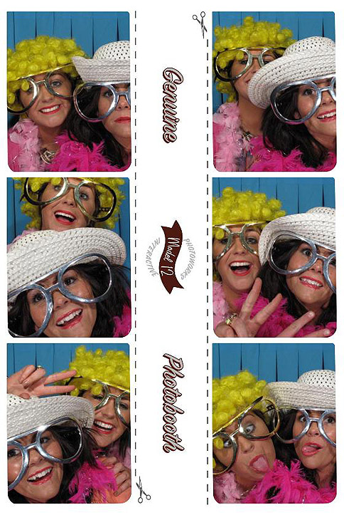Pictures from a photo booth – image courtesy of HR Entertainment.