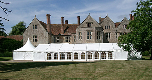 Marquee in the grounds of a country house